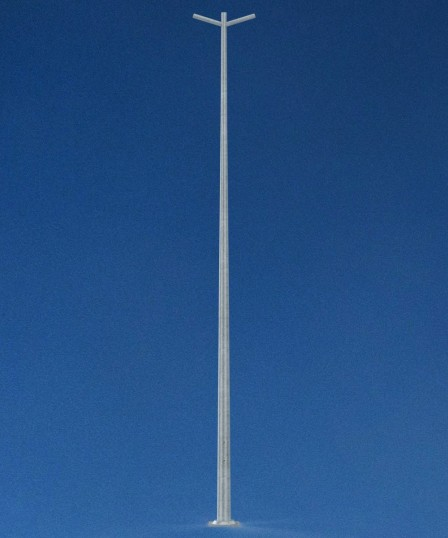 6 metre pole with double bracket